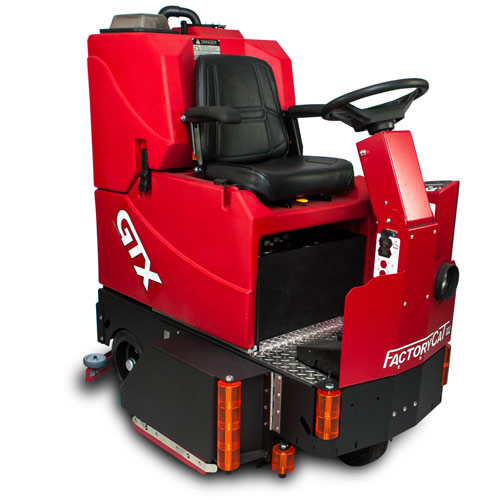 Factory Cat GTX Riding Floor Sweeper & Scrubber