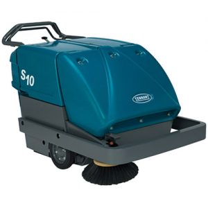 The Tennant S10 Walk-Behind Sweeper is capable of squeezing into tight spaces and sweep with exceptional performance in the harshest environments. The S10 features one of the largest hoppers in any walk behind sweeper- resulting in increased cleaning run time. Capable of capturing dust particles as small as 3 microns, the S10 helps to protect your employees and facilities from potentially harmful dust. Call today to schedule a FREE DEMONSTRATION!
