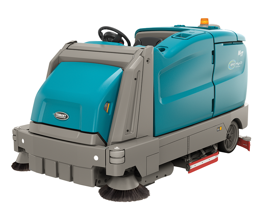 Tennant M17 Rider Sweeper Scrubber System Clean Inc